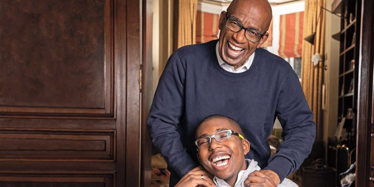 "TODAY's Al Roker with his son and ""star sidekick,"" Nick."