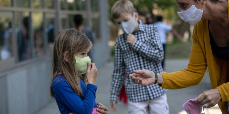 Image: Connecticut Students Return To School With Hybrid Model During COVID-19 Pandemic