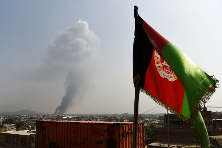 Image: Aftermath of an attack in Kabul, Afghanistan.