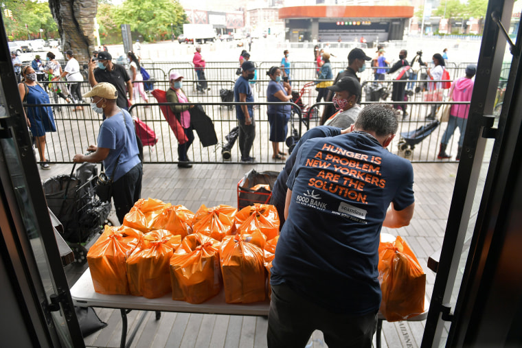 Image: Food Bank For New York City, Barclays Center Host Pop-Up Food Pantry For New Yorkers In Need
