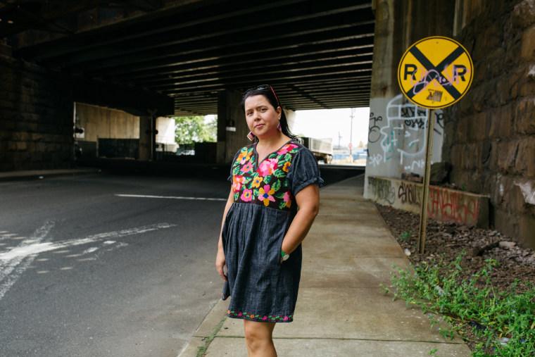 Ana Baptista in Newark's Ironbound neighborhood.