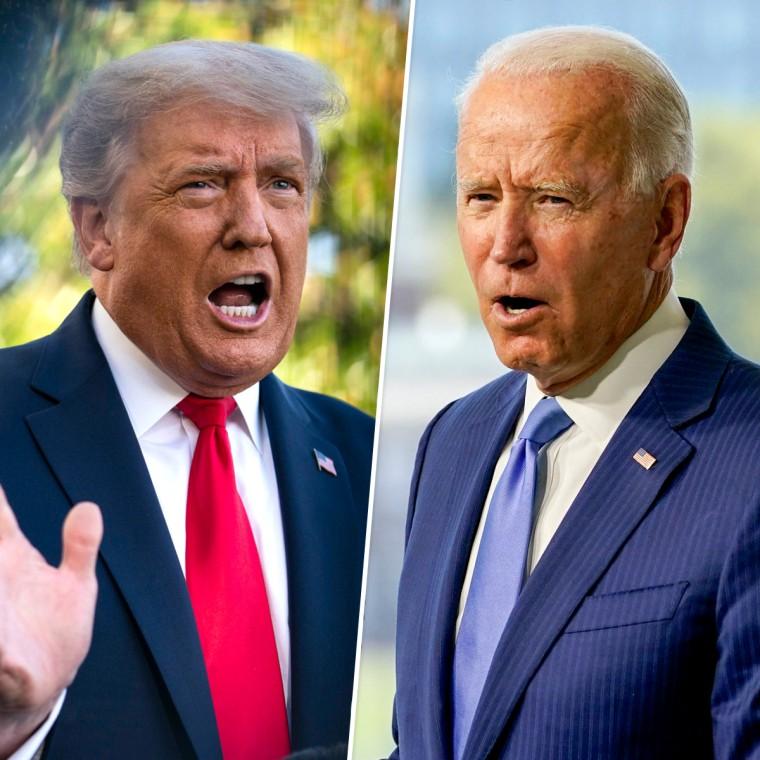 President Donald Trump, Joe Biden.