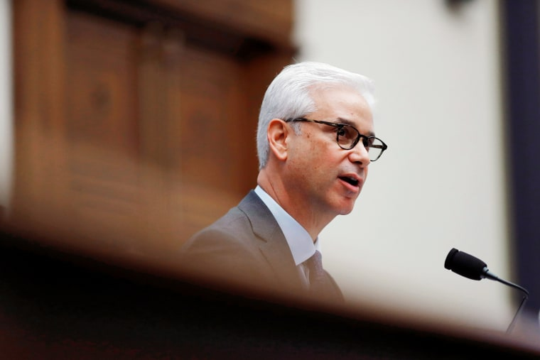 Wells Fargo CEO Charlie Scharf testifies before a House Financial Services Committee on Capitol Hill in Washington, U.S.