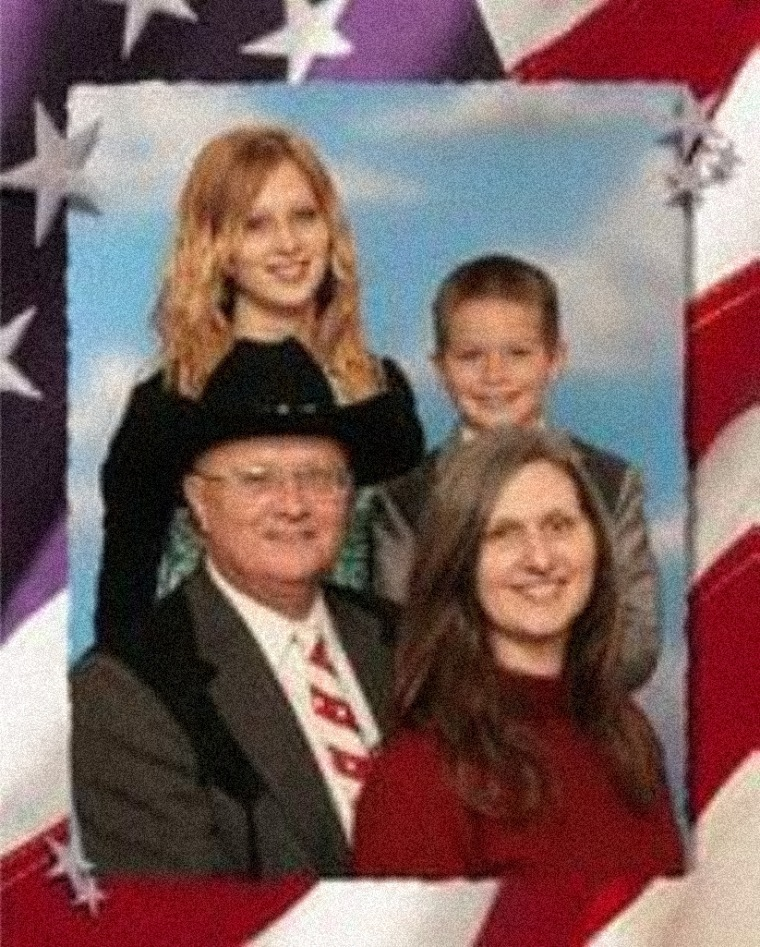 Image: Amanda Householder in a family portrait with her parents, Boyd and Stephanie Householder, who founded Circle of Hope Girls' Ranch in Missouri.