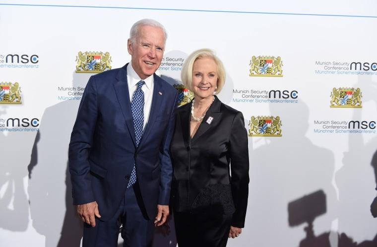 Image: Cindy McCain, Joe Biden, 54th Munich Security Conference