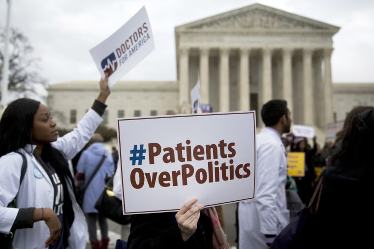 Image: Supreme Court Hears Arguments On The Affordable Care Act