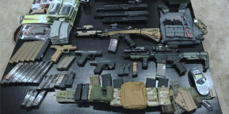 Image: Firearms believed to belong to Benjamin Hung