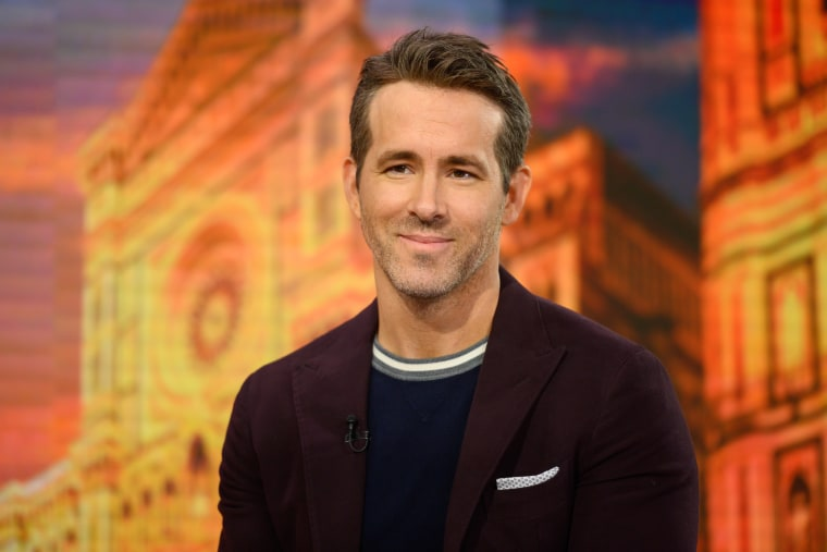 Image: Ryan Reynolds on the TODAY show.