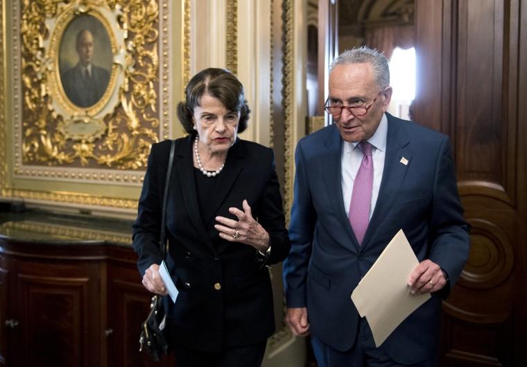 Sen. Dianne Feinstein and Senate Minority Leader Chuck Schumer