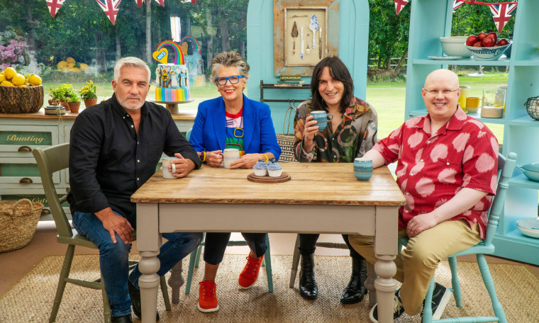 Paul Hollywood, Prue Leith, Noel Fielding and Matt Lucas are ready to taste some cakes.
