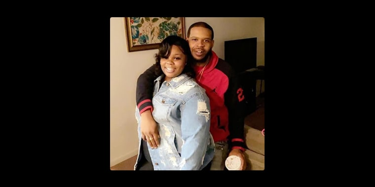 Breonna Taylor with her boyfriend, Kenneth Walker. Taylor died in a police raid as Walker tried to defend their home.