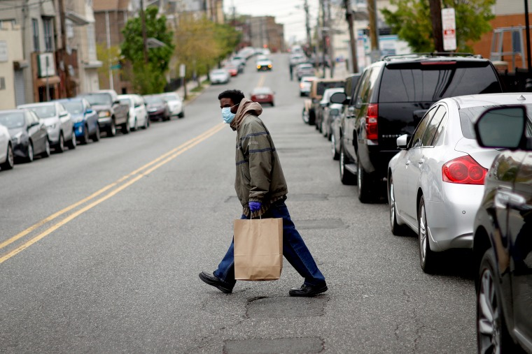 Meals and supplies distributed to residents in need during the outbreak of the coronavirus disease (COVID-19) in Newark
