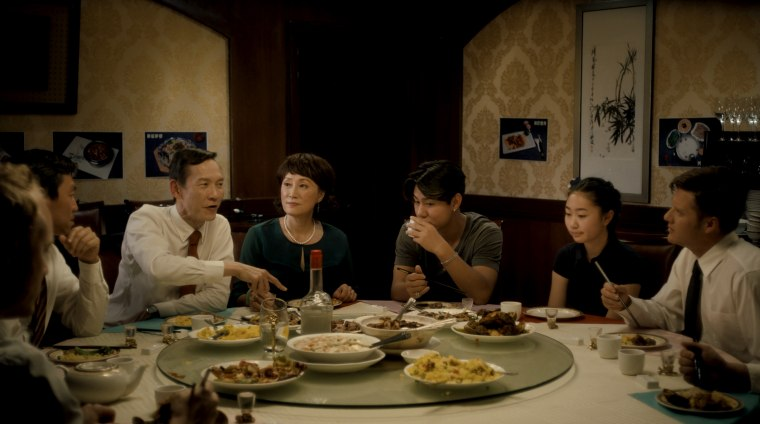 """Lonely Blue Night"" is a portrait of a Chinese family in which the consequences of a mother's decision to leave her daughter in the care of an American homestay family are slowly unearthed when they reunite for a family/business dinner on one lonely blue night."