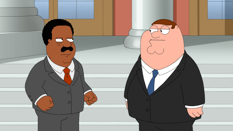 FAMILY GUY, l-r: Cleveland Brown, Peter Griffin in 'A Shot in the Dark' (Season 14, Episode 8,