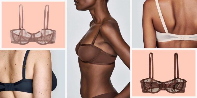 women wearing cuup unlined bras