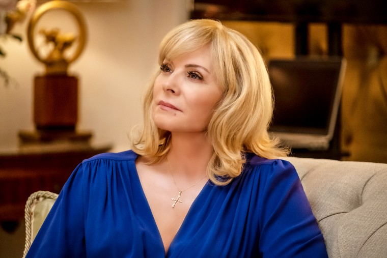 """Kim Cattrall in the premiere episode of """"Filthy Rich"""" on Fox."""