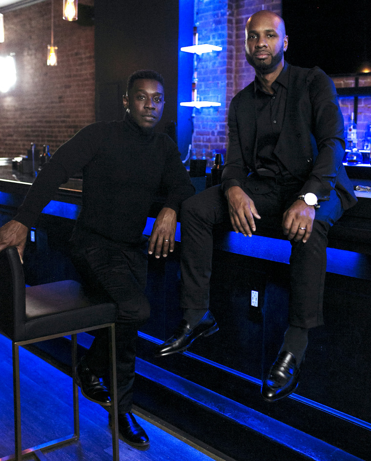 Charles Hughes, left, and Richard Solomon, owners of Lambda Lounge, one of two Black-owned gay bars remaining in NYC.