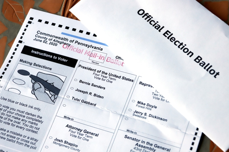 Image: Democratic General Primary mail-in ballot