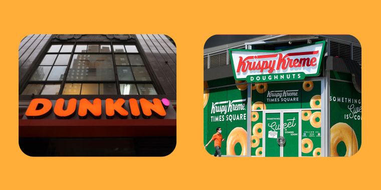 Dunkin and Krispy Kreme Signage Photos