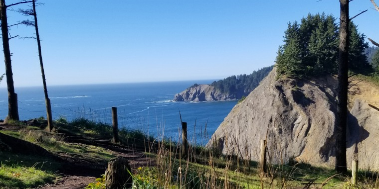 Steven Gastelum fell from a cliff, into the ocean, at Devil's Cauldron Trail in Oswald West State Park on Sunday.