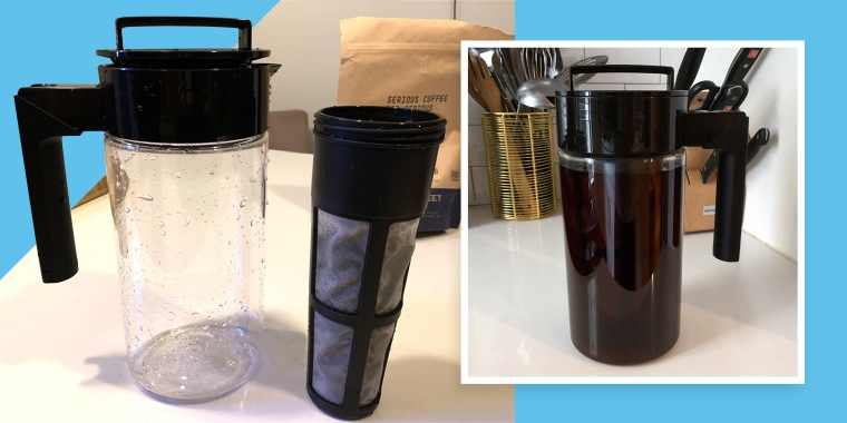 coffee cold brew maker in kitchen