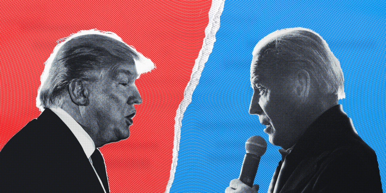 President Donald Trump and Joe Biden participate in the first presidential debate in Cleveland on Tuesday night.