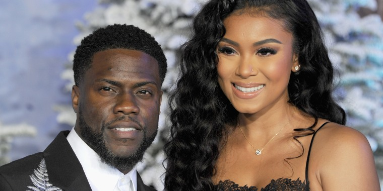 Kevin Hart and wife Eniko Parrish