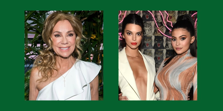 Kathie Lee Gifford (left) is godmother to Kendall and Kylie Jenner (right).