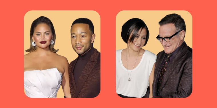 John Legend and Chrissy Teigen and Robin Williams and Zelda Williams
