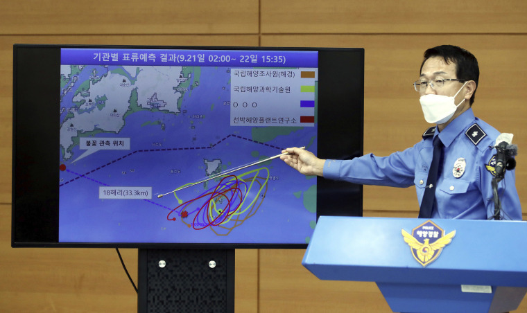 Image: Yoon Seong-hyun, head of the Korea Coast Guard's investigation bureau, speaks during a briefing at the agency in Incheon, South Korea