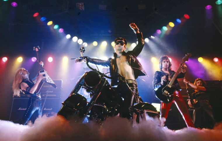Photo of Glenn TIPTON and Rob HALFORD and KK DOWNING and JUDAS PRIEST and Ian HILL
