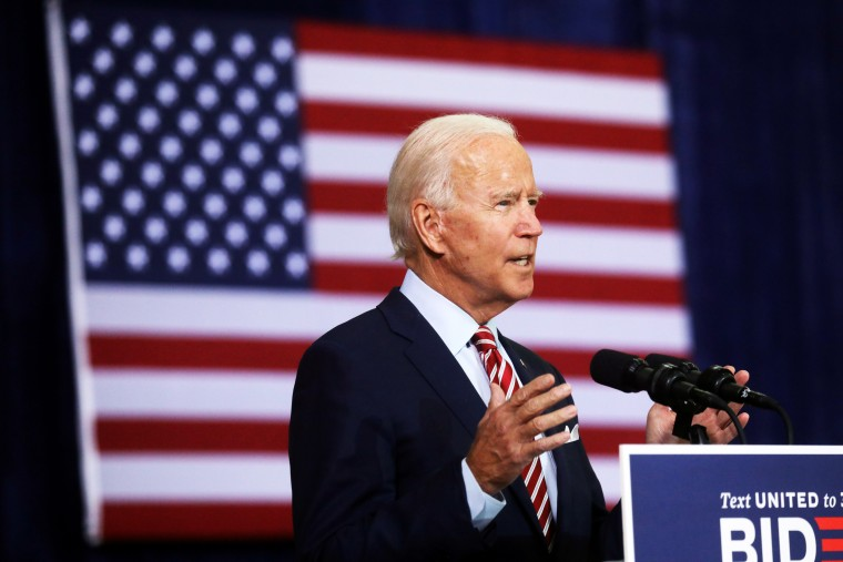 Image: Democratic U.S. presidential nominee and former Vice President Joe Biden delivers remarks and holds a roundtable discussion with veterans at Hillsborough Community College in Tampa, Florida