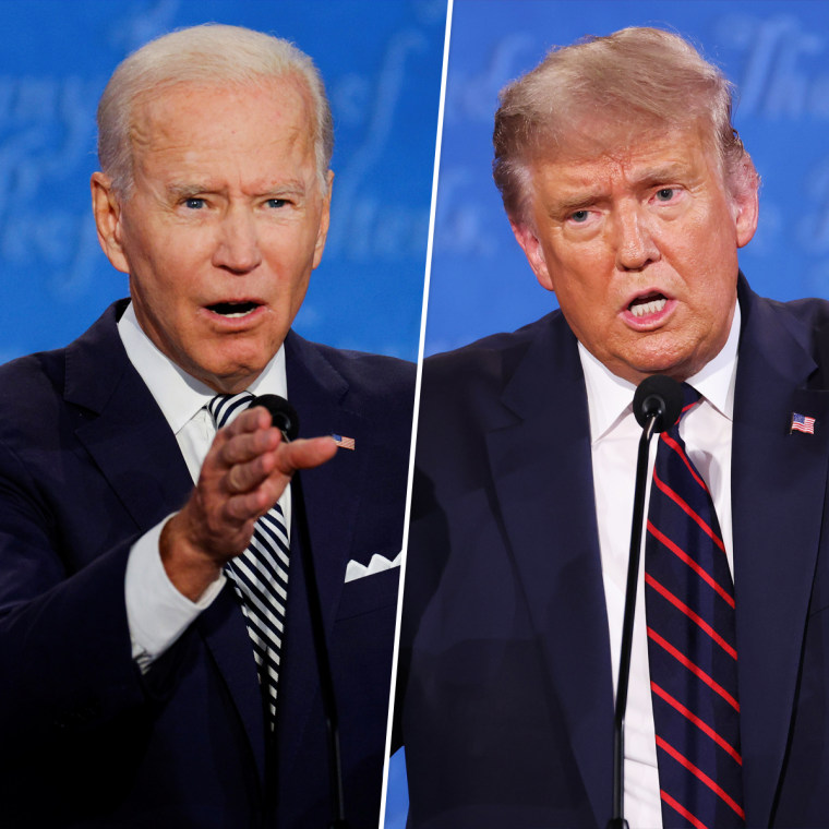 President Donald Trump and Democratic nominee Joe Biden traded taunts during the first presidential debate in Cleveland on Tuesday.