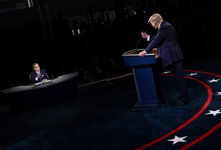 Image: U.S. presidential election debate in Cleveland, Ohio