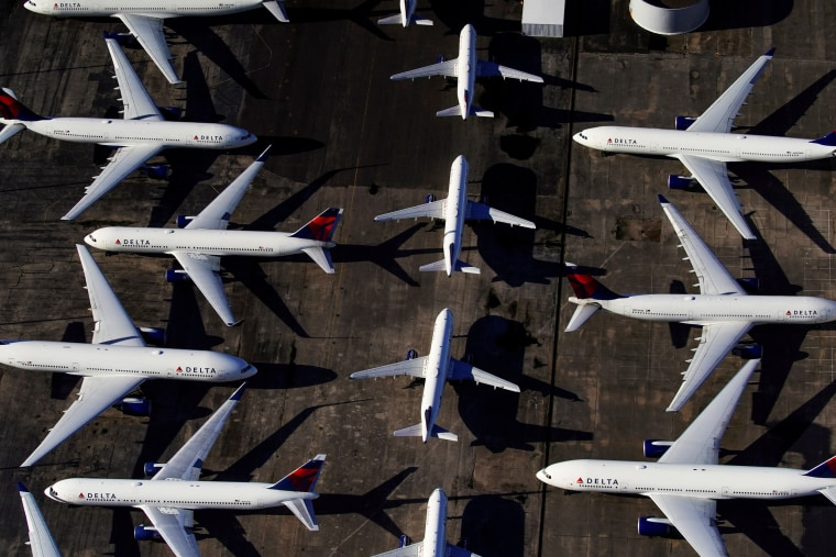 Image: FILE PHOTO: Delta Air Lines passenger planes parked in Birmingham