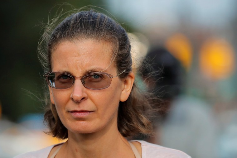 Image: Clare Bronfman, an heiress of the Seagram's liquor empire, following her arraignment on charges of racketeering and conspiracy in relation to the Albany-based organization Nxivm at the United States Federal Courthouse in Brooklyn at New York