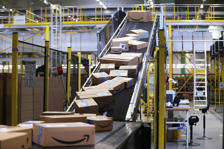 Inside An Amazon Inc. Fulfilment Center On Prime Day
