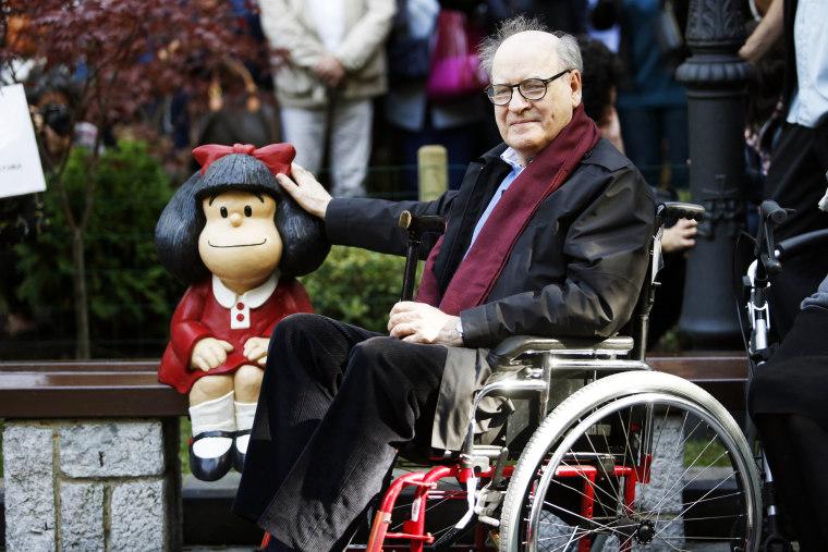 Mafalda and Quino Sighting In Oviedo