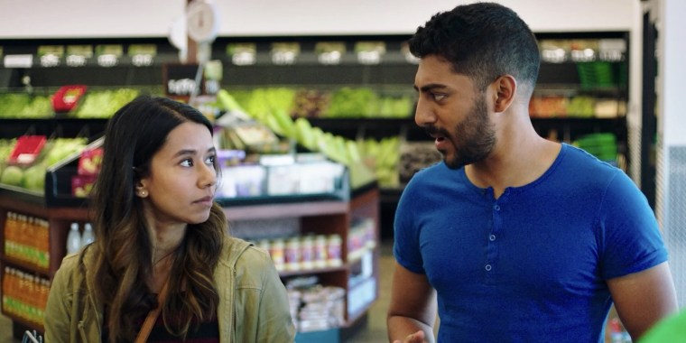 """Sujata Day, left, and Ritesh Rajan in a scene from """"Definition Please."""""""