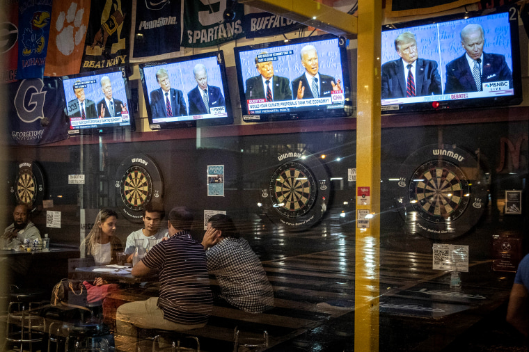 Image: Americans Across The Nation Watch First Presidential Debate