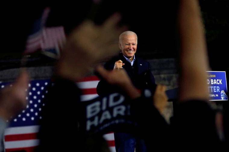 Image: U.S. Democratic presidential candidate and former Vice President Joe Biden campaigns in Johnstown