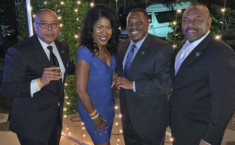 Greg Willis, Temi Bush, Robert Howard and Darnell Streat of Emperors Cut Cigars in Nicaragua as part of their research and networking in building their brand.