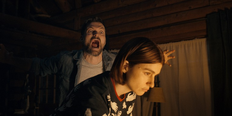 """The comedic thriller \""""Scare Me\"""" unfolds as two strangers tell scary stories during a power outage in the Catskills."""