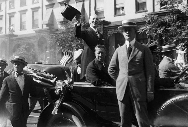 President Wilson Arrives In New York