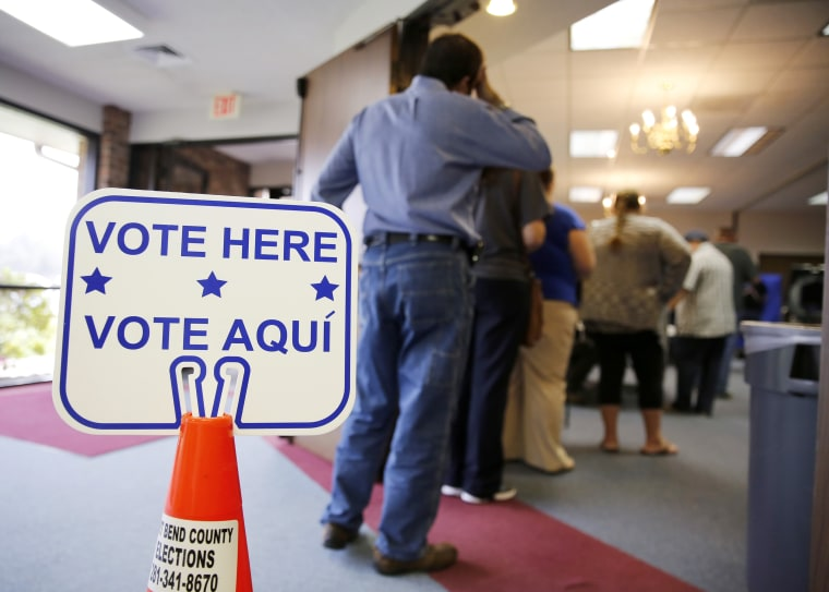 Image: Voters In Super Tuesday States Cast Their Ballots