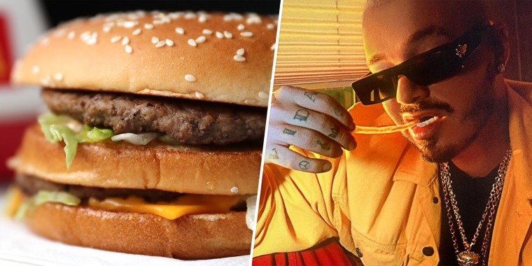 The J Balvin meal The J Balvin Meal features a Big Mac, medium fries with ketchup and an Oreo McFlurry.