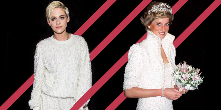 "Kristen Stewart (left) is preparing to play Princess Diana (right) in the upcoming film, ""Spencer."""