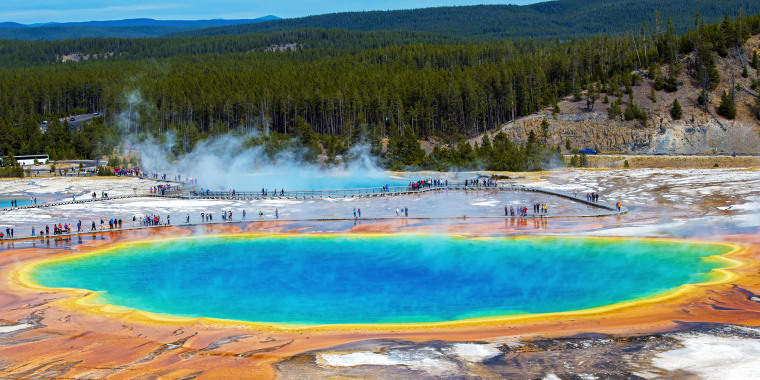 United States. Wyoming. Yellowstone National Park. Grand Prismatic Spring
