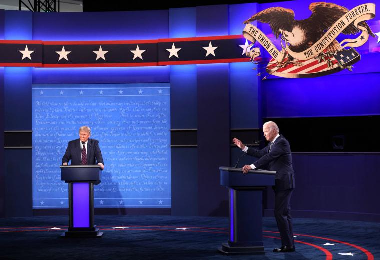 Image: Donald Trump And Joe Biden Participate In First Presidential Debate