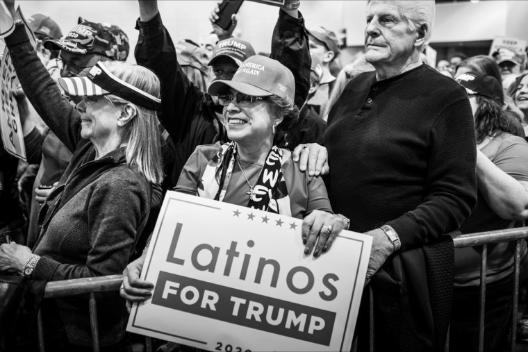 Latinos for Trump at a Las Vegas rally in February 2020.